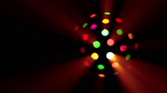 Disco ball light globe in dark. Stock Footage