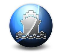 icon, button, pictogram ship, water transportation - stock illustration