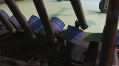 Production of gypsum panels - stock footage