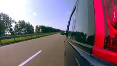 Driving a car POV. Left side reference. Stock Footage