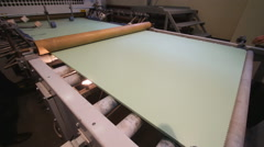 Machine production of wall panels - stock footage