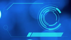 4k hologram interface, blue abstract motion background Stock Footage