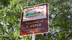 Casper WY nature preserve sign Stock Footage
