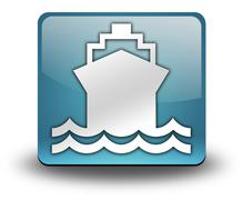 icon, button, pictogram ship, water transportation - stock illustration