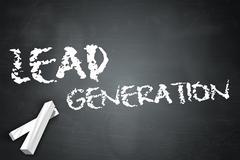 Blackboard lead generation Stock Illustration
