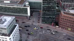 Streets of Hamburg seen from the St. Michael's Church Stock Footage