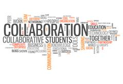 Word cloud collaboration Stock Illustration