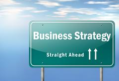 Highway signpost business strategy Piirros
