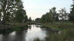 Dutch landscape river sunset Stock Footage