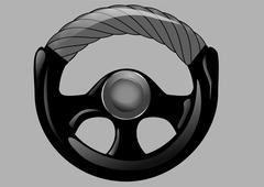 steering wheel of car - stock illustration