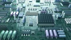 Electronic Circuit Board (LOOP) Stock Footage