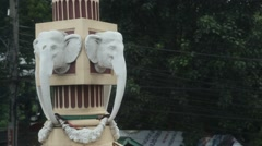 Elephant Statue in Airport Stock Footage
