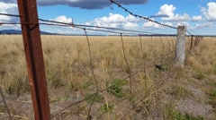 Fence Australian Landscape Stock Footage