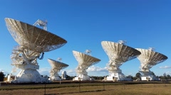 Satelite Dishes - Australia Radio Telescope Compact Array Stock Footage