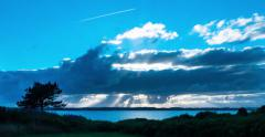 Time lapse of Epic clouds flying by very fast. Stock Footage