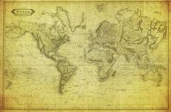 Vintage map of the world 1831 Piirros