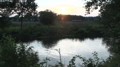 Dutch landscape sunset timelapse Stock Footage