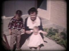 1950s Mother With Son And Baby - Vintage 8mm Stock Footage