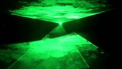 Green Laser Show Stock Footage