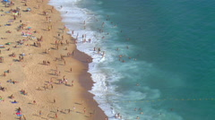 Panorama of Nazare, Portugal 2014 summer Stock Footage