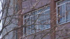 Plastic windows in a building Stock Footage