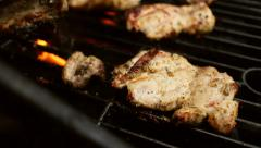 Grilling Chicken Thighs Stock Footage