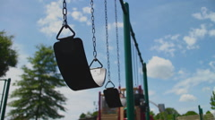 Empty Swing Set CU Stock Footage