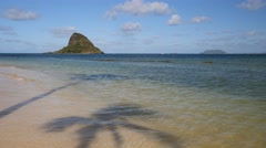 Chinamans hat, mokolii island, kualoa beach park, oahu, hawaii.. Stock Footage