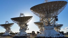Radio Telescope Compact Array - Space Science Stock Footage