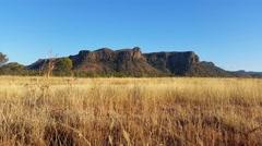 Road Train Truck Passing Australian Landscape Arkistovideo