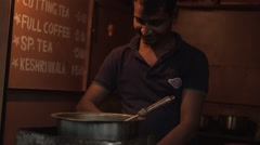 Mumbai BRoll-2- Chai Wallah street vendor 1 Stock Footage