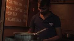 Mumbai BRoll-2- Chai Wallah street vendor 2 Stock Footage