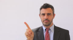 Man in suit showing negative reactions Stock Footage