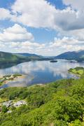 Derwent Water Lake District National Park Cumbria near Keswick - stock photo