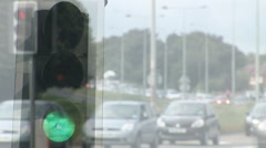 Traffic Light and traffic stop end go sequence Stock Footage