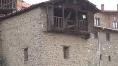 Meteora, Kalabaka, Monasteries built on top of the mountain, Ancient buildings Stock Footage