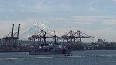 Ship, Coast Guard, CGC Mellon, Cutter, 4K - stock footage