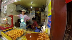 Stock Video Footage of Qibao Market Slo-Mo sideview 9 24 fps