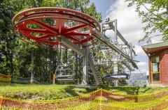 Big red wheel chair lift in Bukovel Kuvituskuvat
