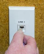 Network wall link Stock Photos