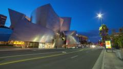 Los Angeles' Disney Hall timelapse Stock Footage