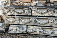 greek theatre masks - stock photo