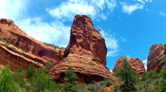 Boynton Canyon- Sedona Red Rocks With Clouds Time Lapse 10sec Stock Footage