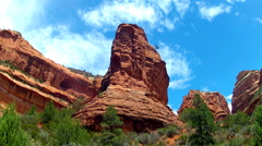 Boynton Canyon- Sedona Red Rocks With Clouds Time Lapse 15sec Stock Footage