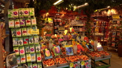 Shop selling Dutch tulips and other flower seeds in Holland - stock footage