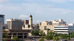 Downtown Wichita, KS buildings Stock Footage