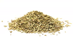 Heap of fennel seeds Stock Footage