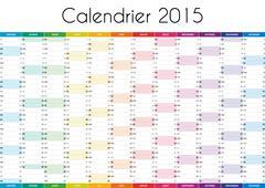 Calendrier 2015 - VERSION FRANCAISE - stock illustration