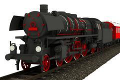 Isolated old locomotive illustration. Stock Illustration