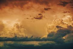 Stormy horizon. storm cloudscape photo background. Kuvituskuvat